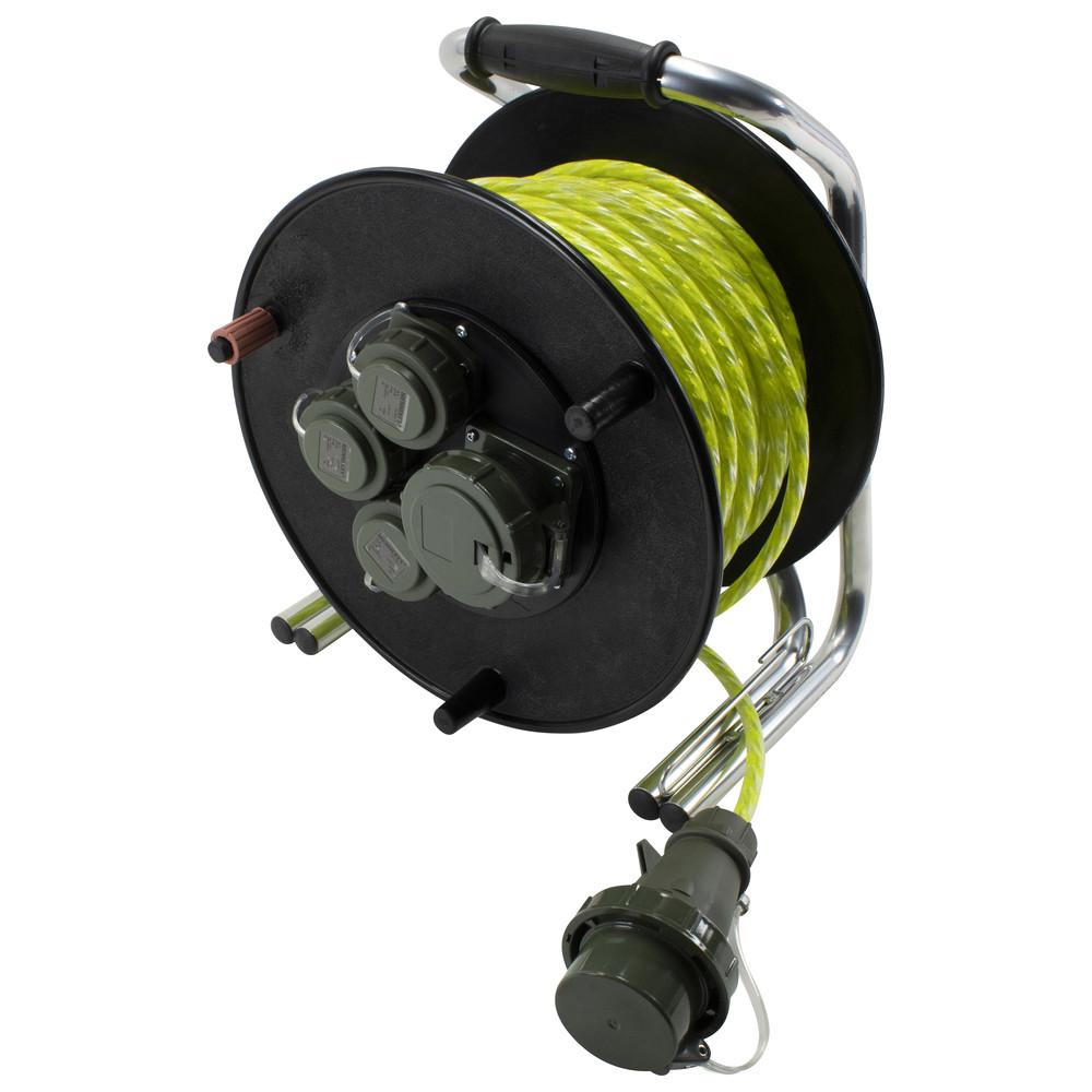 Leitungsroller Feuerwehr RFX 230 V/400 V, mit Reflexkabel, 50 m Image