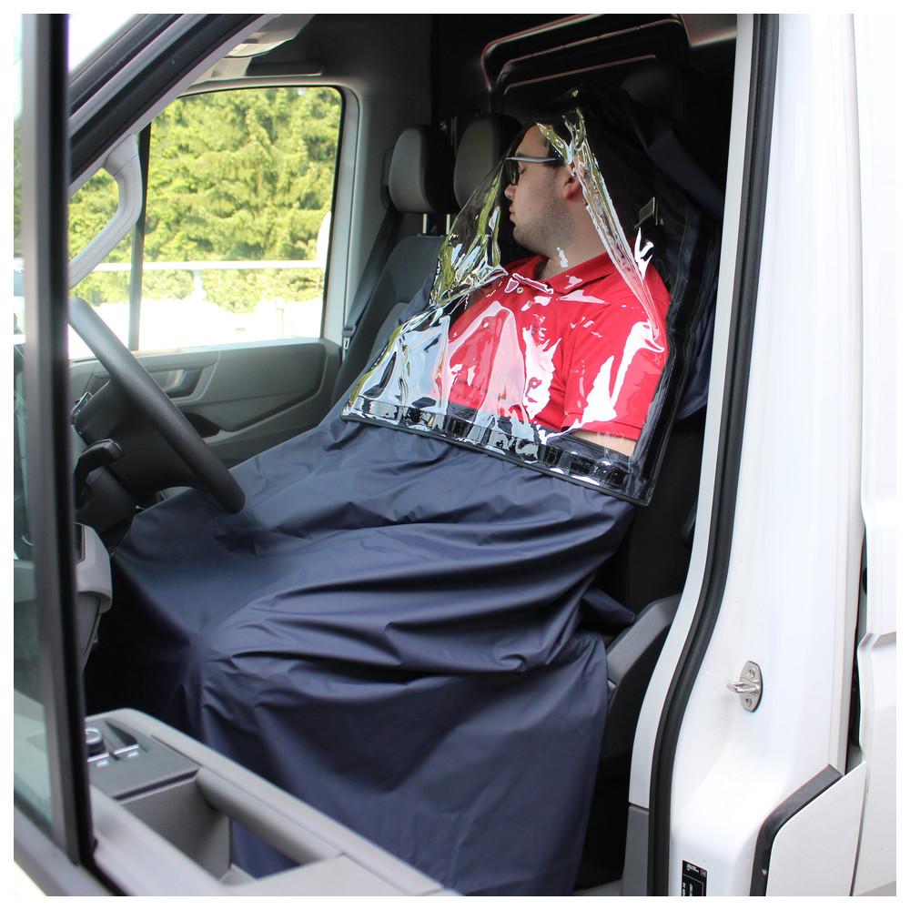 Patientenschutzdecke mit auswechselbarem Sichtfenster, 120 x 200 cm Image